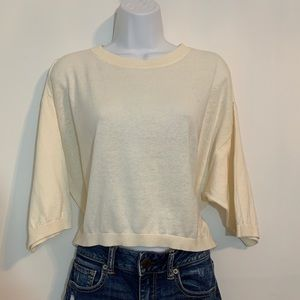 Ivory knit Top by Gap is NWT. Size medium